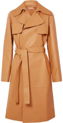 Michael Kors Collection - Belted Leather Trench Coat - Tan