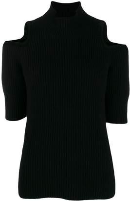 Zoe Jordan cut-out detail knit sweater