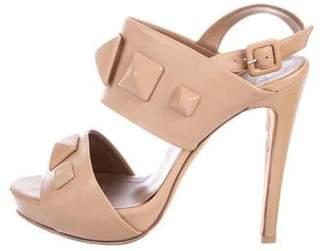 Hermes Leather Platform Sandals