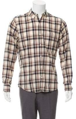 Vince Casual Plaid Shirt