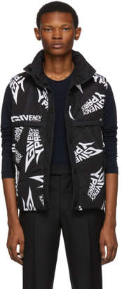 Givenchy Black and White Puffer Vest