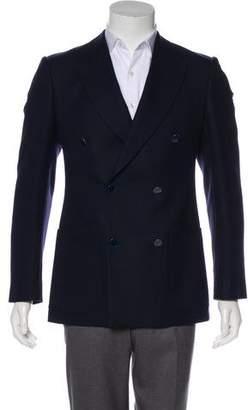 Alexander McQueen Wool & Cashmere Double-Breasted Blazer