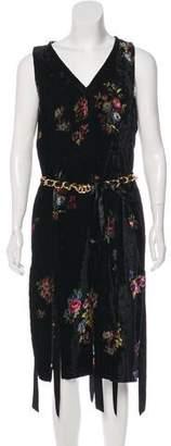 Paul Smith Velvet Rose Print Dress