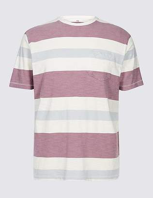 Marks and Spencer Pure Cotton Striped Authentic Top