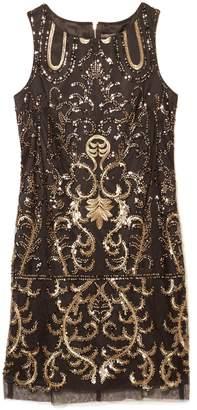Vince Camuto Embellished Drop-waist Dress