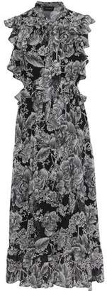 Robert Rodriguez Clara Floral-print Cotton And Silk-blend Georgette Midi Dress