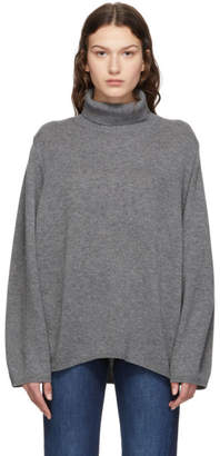 Totême Grey Merino Cambridge Turtleneck