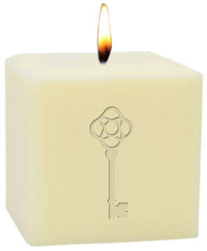 "Carved Solutions 3"" Eco-Luxury Antique Key Soy Candle"