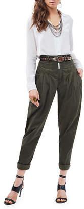 Z. Cavaricci Cat Eye High-Rise Twill Trousers