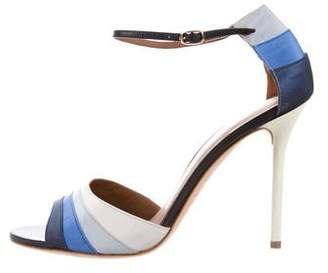 Malone Souliers Satin Ankle Strap Sandals