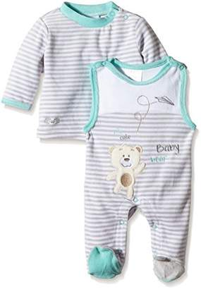 Twins Unisex Baby Crew Neck Long Sleeve Footies 5-6 Months (Manufacturer Size: 68)