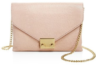 Loeffler Randall Junior Lock Embossed Leather Clutch $295 thestylecure.com