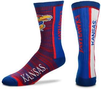 For Bare Feet Adult Kansas Jayhawks Bar Stripe Crew Socks