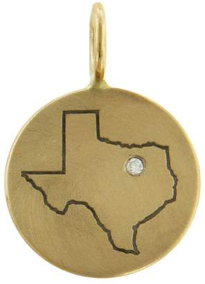 Heather B Moore Texas State Charm - Yellow Gold