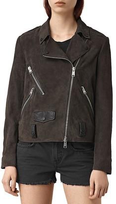 ALLSAINTS Richardson Leather Motorcycle Jacket $595 thestylecure.com