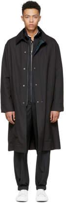 Lanvin Black Technical Wool Coat