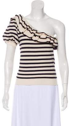 Ulla Johnson One-Shoulder Knit Crop Top