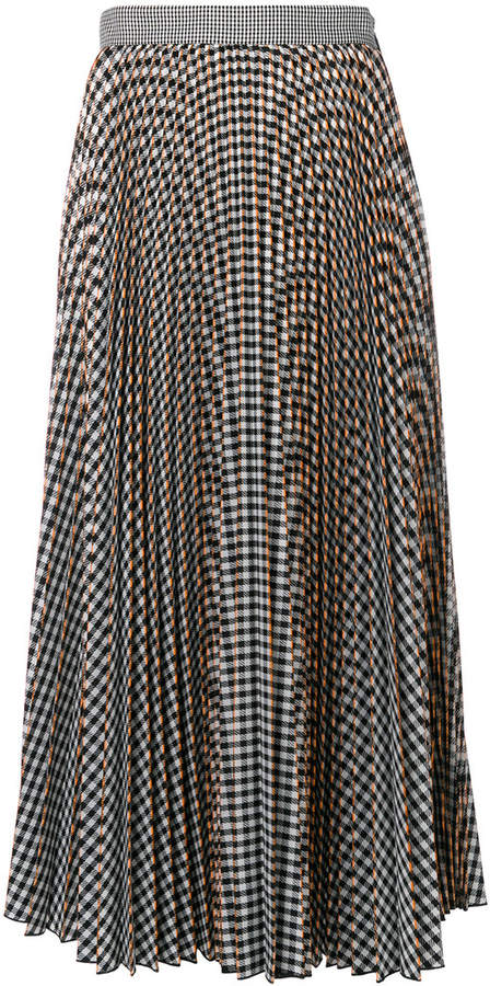 MSGM checked pleated skirt