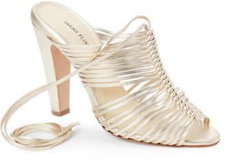 Sarah Flint Gold Ivy Strappy Ankle Wrap Sandals