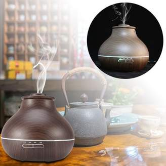 TMISHION Ultrasonic Essential Oil Diffuser,Wooden LED Aroma Humidifier Air Diffuser for home office use(Dark Wood)