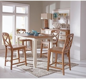 Panama Jack Home Millbrook 5 Piece Extendable Dining Table Set Home