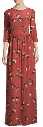ba&sh Preppy Floral-Print Silk Maxi Dress $595 thestylecure.com