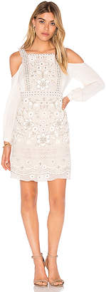 Needle & Thread Embellished Bib Dress in Rose $569 thestylecure.com