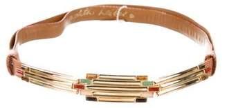 Judith Leiber Embossed Leather Waist Belt