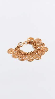 Chanel What Goes Around Comes Around 3 Tier CC Twist Bracelet