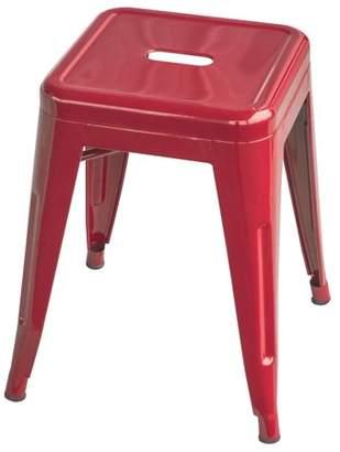 LOFT AmeriHome Red 18 Inch Metal Bar Stool