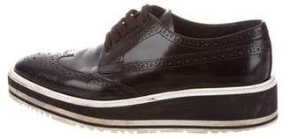 Prada Leather Wingtip Oxfords