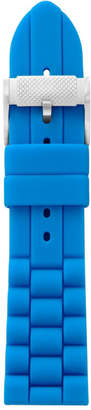 Fossil 24mm Bright Blue Silicone Watch Strap