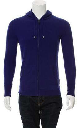Burberry Hooded Cashmere Zip-Up Sweater
