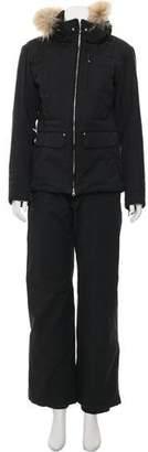 Descente Fur-Trimmed Snow Suit
