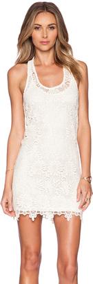 LSPACE Sylvie Lace Mini Dress $150 thestylecure.com