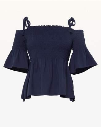 Juicy Couture JXJC Smocked Off Shoulder Top