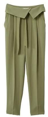 MANGO Paper bag soft trousers