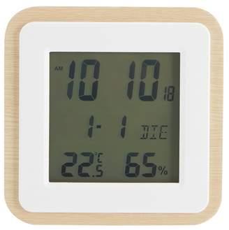 Debenhams Natural Wooden Square Clock