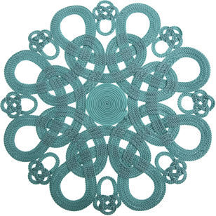 Daisy Hill Passementry Placemat- Turquoise