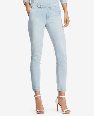 Lauren Ralph Lauren Denim Straight Pants $99.50 thestylecure.com
