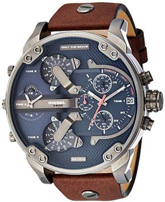 Diesel Men's Mr Daddy 2.0 Quartz Stainless Steel and Leather Chronograph Watch