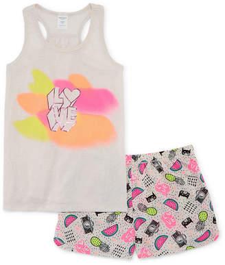 Arizona 2pc.Love Tank and Short Pajama Set - Girls 4-16 & Plus