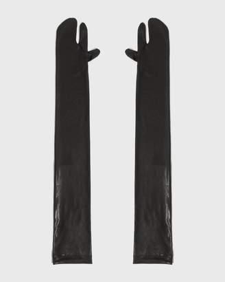 MM6 MAISON MARGIELA Black Long Tabi Gloves