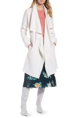 Halogen Boiled Wool Blend Drape Front Coat
