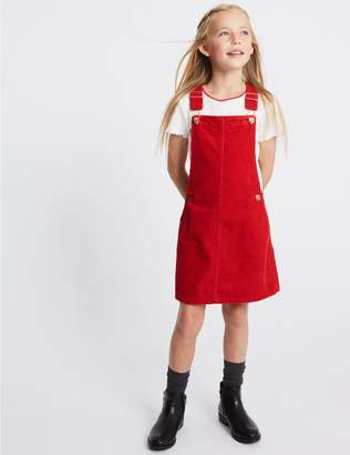 Marks and Spencer Cord Pinafore with T-Shirt (3-16 Years)