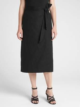 029dbe868f ... Gap Wrap Midi Skirt in Linen-Cotton