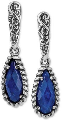 Lapis Carolyn Pollack Caroly Pollack Lazuli/Rock Quartz Drop Earrings (4-7/8 ct. t.w.) in Sterling Silver