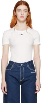 Off-White Off White White Baby T-Shirt