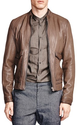 The Kooples Aviator Leather Jacket $995 thestylecure.com