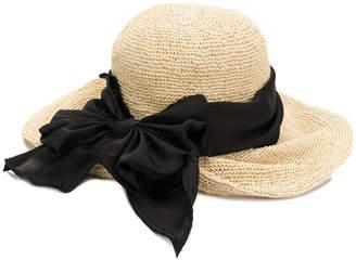 CA4LA oversized bow woven hat